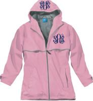 Monogrammed Women's Rain Jacket - Pink