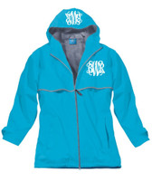 Monogrammed Women's Rain Jacket - Wave (SMALL AND MEDIUM ONLY)