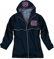 Monogrammed Women's Rain Jacket - Navy (SMALL AND MEDIUM ONLY)