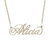 Sterling Silver Name Cutout Necklace