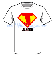 Boys Superhero Tee with Name