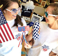 Apparel - Monogrammed Glitter 4th of July Bow Tee