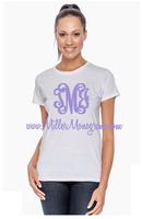 White Monogrammed Tee Shirt