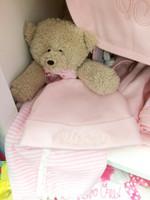 Monogrammed Pink Infant Hat