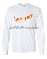 Boo Y'all Longsleeve T-Shirt