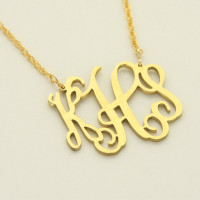 Medium Gold Interlocking Monogram Necklace
