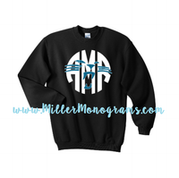Panther Monogram Black Glitter ADULT Sweatshirt
