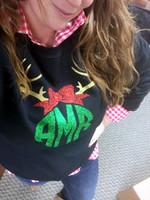 Glitter Reindeer Monogram Sweatshirt