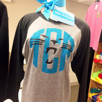 Panther Monogram Baseball Tee