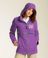 Monogrammed Women's Rain Jacket - Violet (SMALL ONLY)