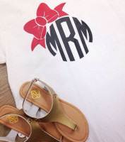 Bow Monogram Tee Shirt
