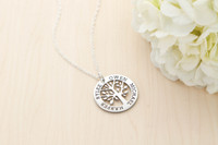 Family Tree Necklace - MEDIUM Sterling Silver