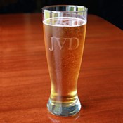 Etched Pilsner Glass (Set of 4)