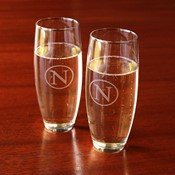 Etched Stemless Champagne Flute (Set of 4)