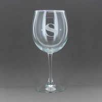 Etched Stemmed Red Wine Glass (Set of 4)