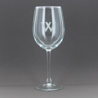 Etched Stemmed White Wine Glass (Set of 4)