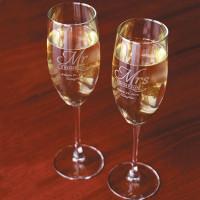 Etched Stemmed Champagne Flute (Set of 2)