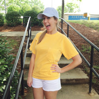 Monogrammed Short Sleeve Comfort Color Tee - Melon