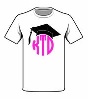 Monogrammed White Graduation Tee