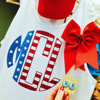 Apparel - Stars and Stripes Monogram Tank