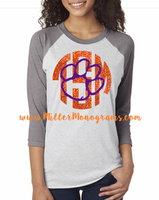 Game Day Monogram Baseball Tee - Tigers