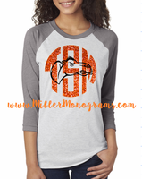 Game Day Monogram Baseball Tee - Camels