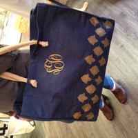Monogrammed Nantes Glamour Juco Tote - Navy
