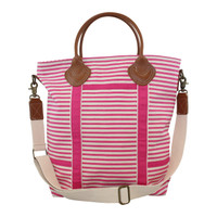 Monogrammed Canvas Flight Bag - Pink