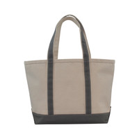 Monogrammed Canvas Boat Tote - Grey