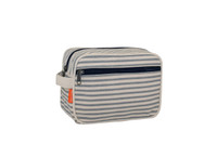 Monogrammed Canvas Lined Travel Kit - Grey