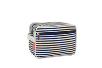 Monogrammed Canvas Lined Travel Kit - Navy