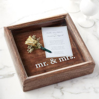 Mudpie Mr. & Mrs. Wooden Shadow Box