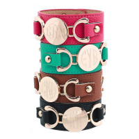 Monogrammed Leather Cuff