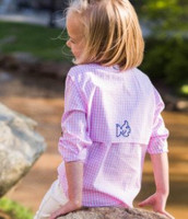 Prodoh Long Sleeve Button Down - Gingham Pink