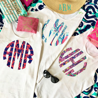 Lilly Center Front Monogram Tank