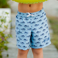 Monogrammed Boys Finn Swim Trunks