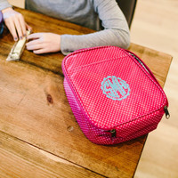 Monogrammed Pink Lunchbox