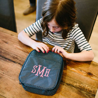 Monogrammed Navy Lunchbox