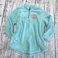 Monogrammed Women's Newport Fleece Sherpa - Aqua