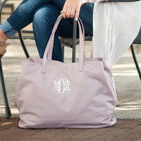 Monogrammed Cambridge Travel Bag - Blush