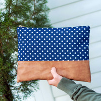 Monogrammed Charlie Dot Zip Pouch
