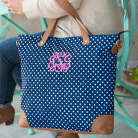 Monogrammed Charlie Dot Shoulder Bag