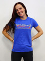 Snake Racing Womens Blue T-Shirt