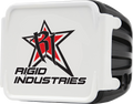 White opaque Cover with Printed Rigid industries logo
