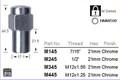"7/16"" Chrome Wheel Nut 21mm Hex - osc - WN32-M145"