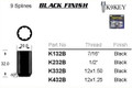 "1/2"" Black Lock Nut - osc - WN34-K232B"