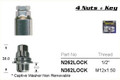 "1/2"" Chrome Lock Nut - osc - WN36-N262LOC"