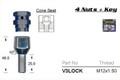 M12 x 1.50 Chrome Lock Nut - osc - WN38-V3LOCK
