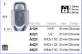 M14 x 1.5 Chrome Long Shank Wheel Nut 21mm Hex