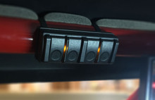 Wireless remote can be mounted anywhere. Magnetic release allows you to remove and use outside your vehicle